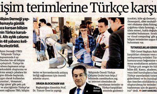 Bilişim Terimlerine Türkçe Karşılık – YENİ ŞAFAK