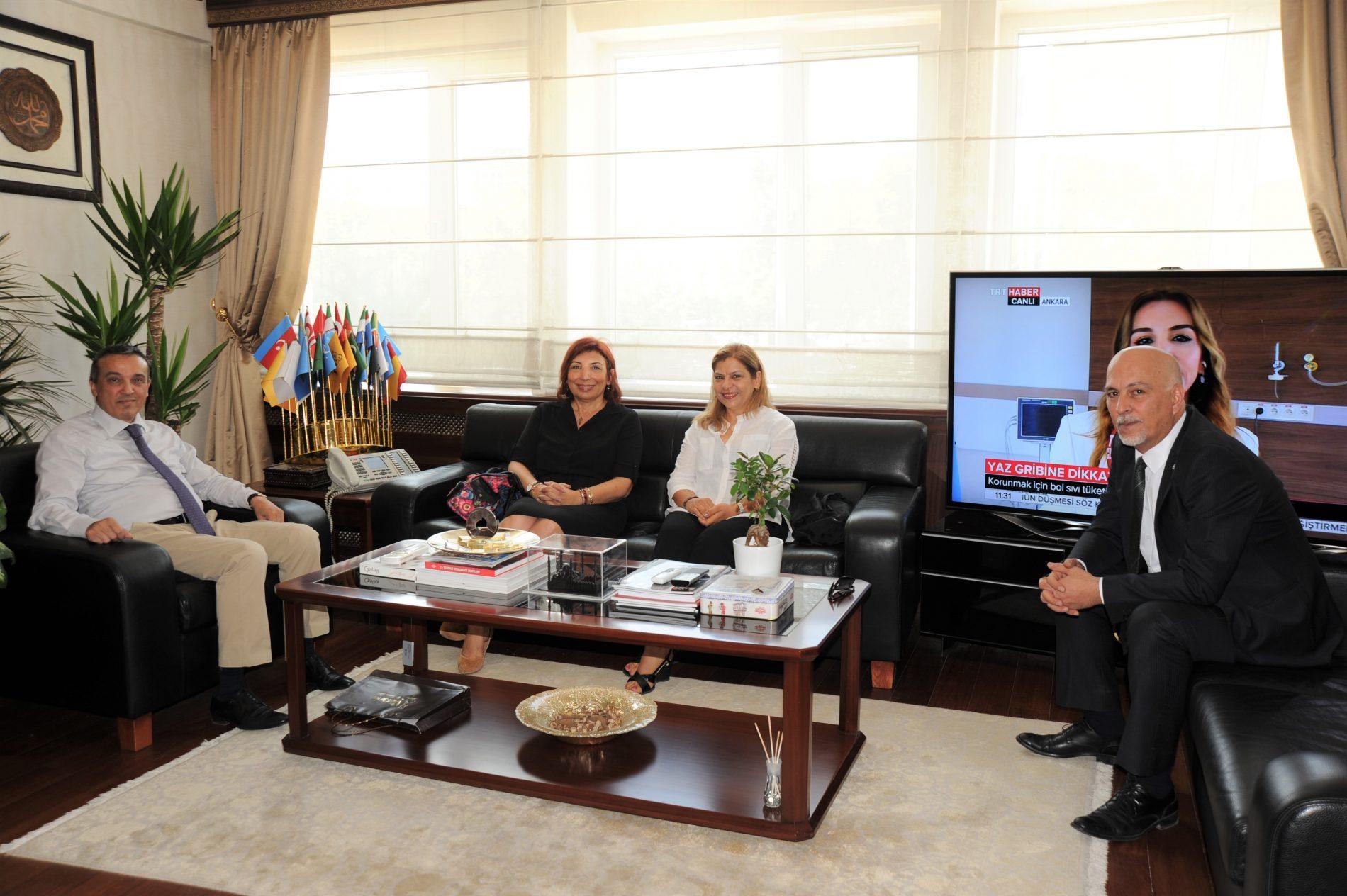 Prof. Dr. Adem Şahin'e Tebrik Ziyareti