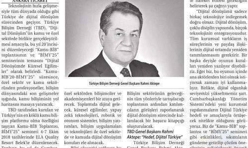 """""""Dijital Dönüşüm Tüm Sektörlerde Gerçekleşmeli"""" – TİCARET GAZETESİ İZMİR"""