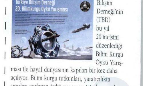 Türkiye Bilişim Derneği'den Bilim Kurgu Öykü Yarışması – DİVA DERGİSİ