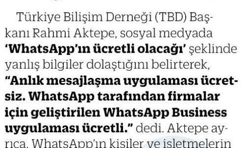 WhatsApp Ücretli mi Oluyor? – ESKİŞEHİR ANADOLU GAZETESİ