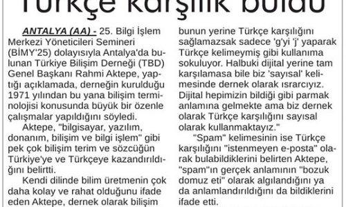 Bilişimde 12 Bin Terim Türkçe Karşılık Buldu – ANKARA 24 SAAT