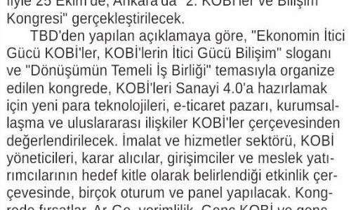 """""""KOBİ'ler ve Bilişim"""" Başkentte Mercek Altına Alınacak – ANKARA 24 SAAT"""