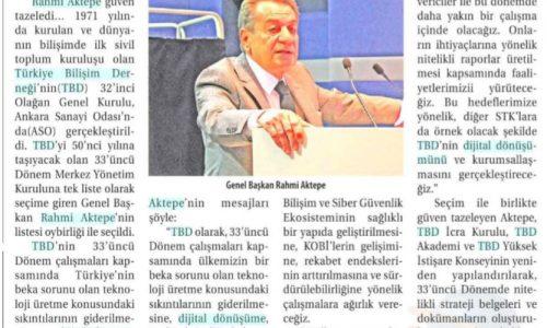 TBD Başkanı AKTEPE Güven Tazeledi – TİCARET GAZETESİ İZMİR