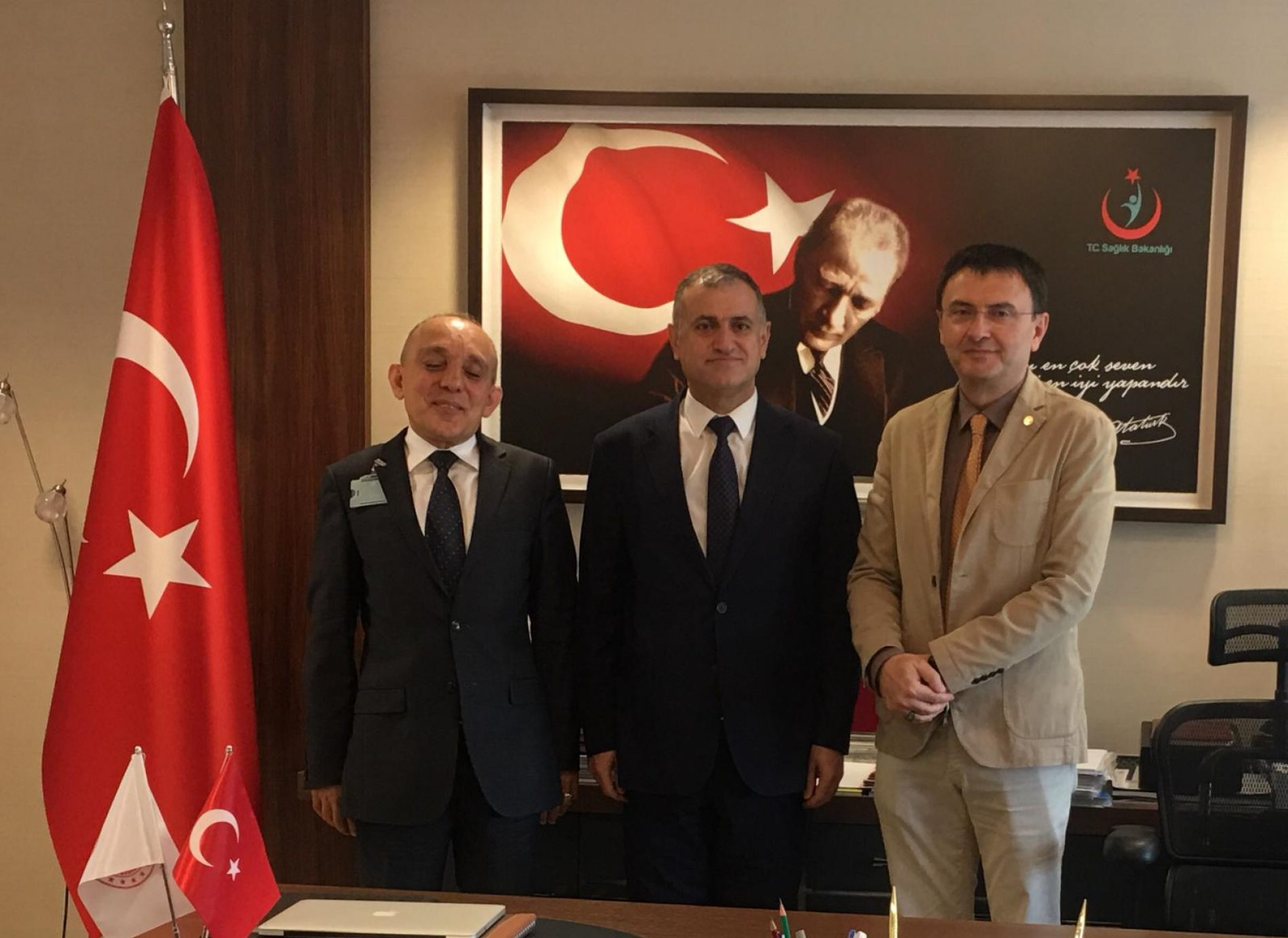 TBD Ankara Şubesi Yönetiminin  Sayın Dr. Mahir Ülgü'ye Tanışma ve Nezaket Ziyareti