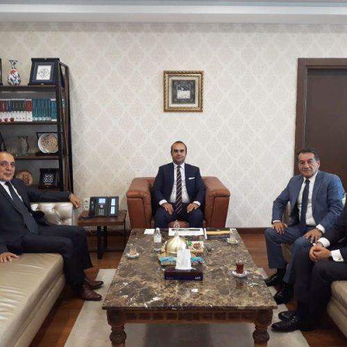 TBD Heyeti, T.C. Sanayi ve Teknoloji Bakan Yardımcısı Sayın Mehmet Fatih KACIR'ı Makamında Ziyaret Etti