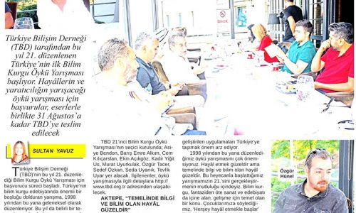 Türkiye Bilişim Derneği'nin 21. Öykü Yarışması Başladı – 24 SAAT