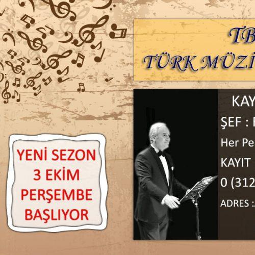 TBD Türk Müziği Korosu Kayıtlar Başladı