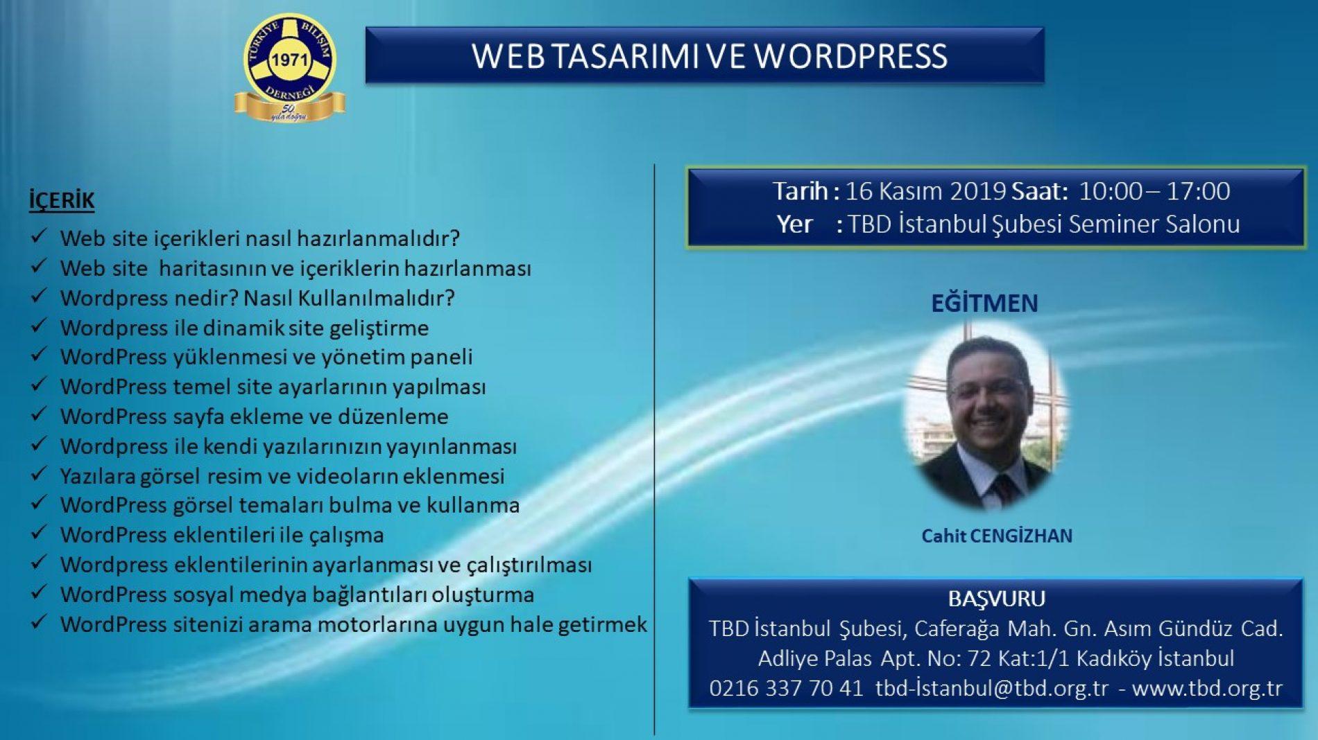 WEB TASARIMI VE WORDPRESS