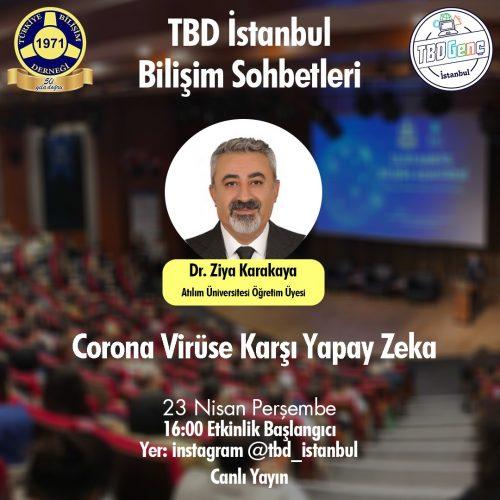 TBD İstanbul Bilişim Sohbetleri: Corona Virüse Karşı Yapay Zeka
