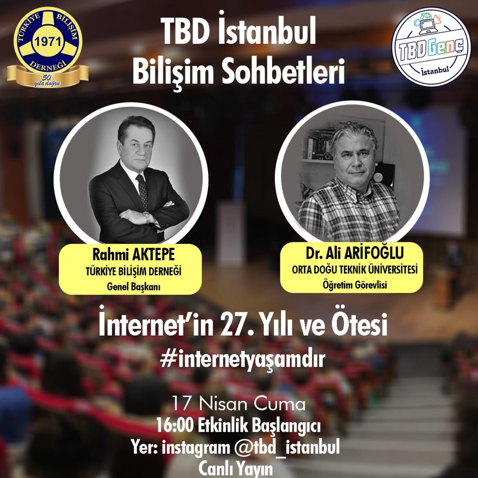 TBD İstanbul Şubesi Bilişim Sohbetleri: İnternet' in 27. Yılı ve Ötesi