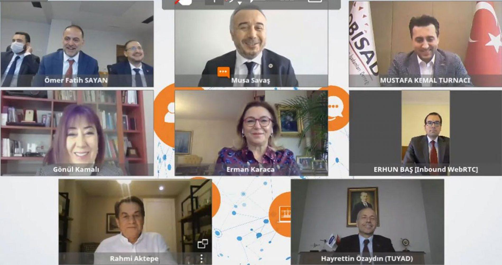 """TBD Genel Başkanı Rahmi AKTEPE Dijital Gündem """"Salgınla Mücadelede Bilişim ve Telekom"""" Konulu Konferansa Katıldı"""
