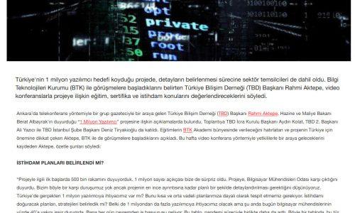 1 Milyon Yazılımcı için Sektör de Seferber Oldu – HÜRRİYET