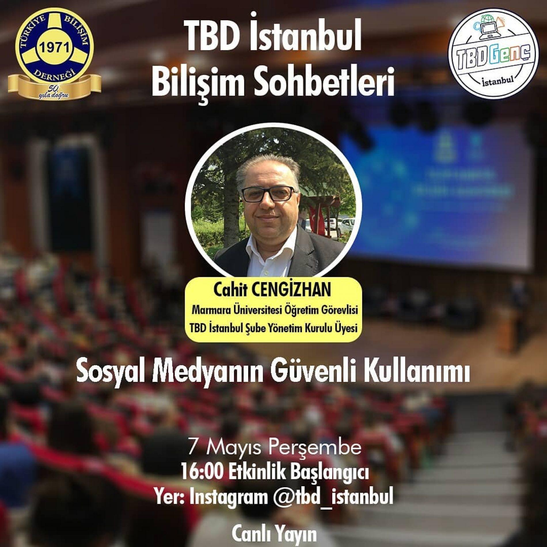TBD İstanbul Bilişim Sohbetleri: Sosyal Medyanın Güvenli Kullanımı