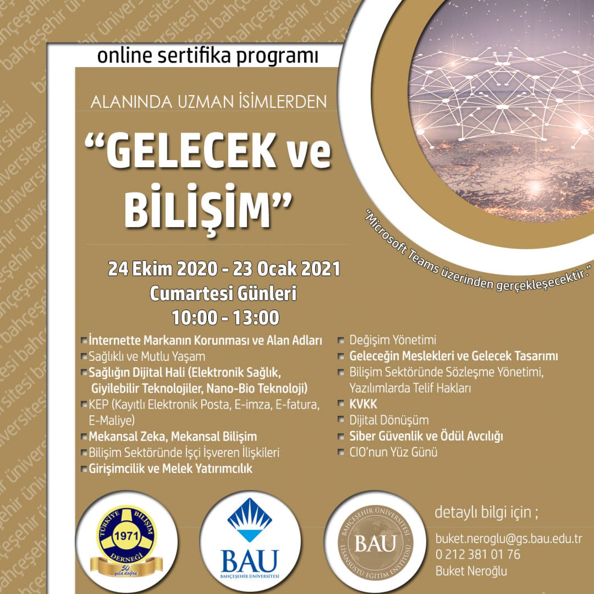 Bahçeşehir Üniversitesi – TBD Online Sertifika Programı