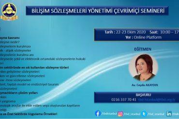 Bilişim Sözleşmeleri Yönetimi Çevrimiçi Semineri