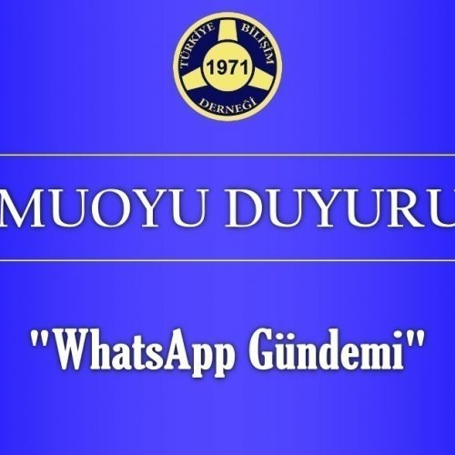 Kamuoyu Duyurusu – WhatsApp Gündemi