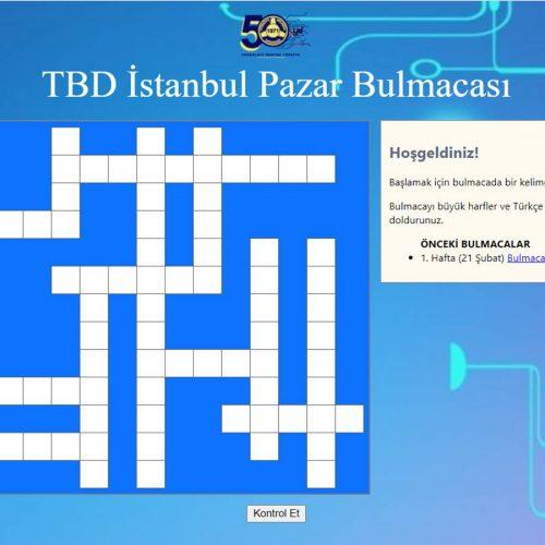 TBD İstanbul 28 Şubat Pazar Bulmacası