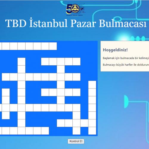 TBD İstanbul Pazar Bulmacası