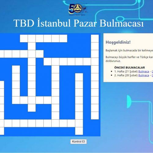 TBD İstanbul 7 Mart Pazar Bulmacası