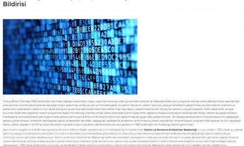 Türkiye Bilişim Derneği (TBD) Genel Başkanı Rahmi AKTEPE'nin Basın Bildirisi – BT Haber
