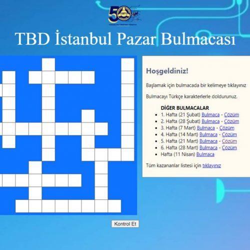 TBD İstanbul 11 Nisan Pazar Bulmacası