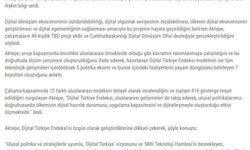 Dijital Türkiye'nin skoru 100 üzerinden 68 Kaynak: Dijital Türkiye'nin skoru 100 üzerinden 68 – RİSALE HABER