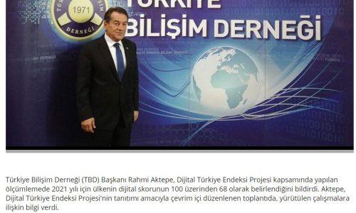 Dijital Türkiye'nin skoru 100 üzerinden 68 – YENİ MESAJ