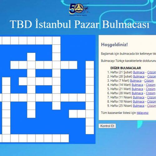 TBD İSTANBUL 2 MAYIS PAZAR BULMACASI