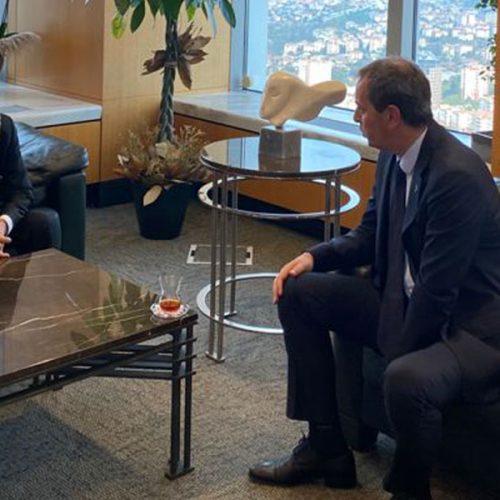 Türkiye Bilişim Derneği Genel Başkanı Sayın Rahmi AKTEPE, Türkiye İş Bankası Genel Müdürü Sayın Hakan ARAN'ı  Makamında Ziyaret Etti